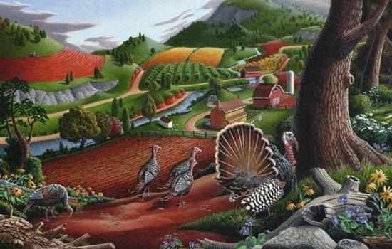 Яркий мультяшный мир от иллюстратора Walt  Curlee из Америки