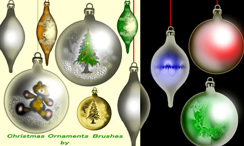 Скачать Christmas Ornaments Brushes