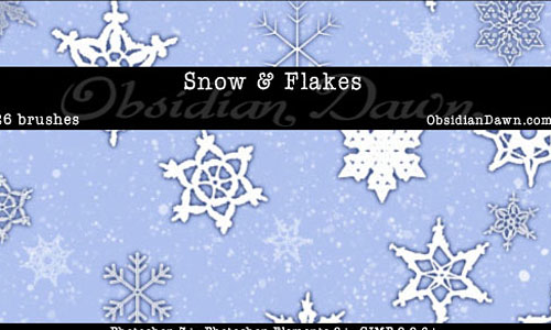 Скачать Snow Snowflakes Brushes