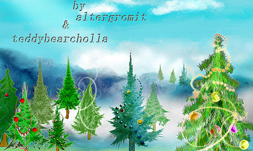 Скачать Christmas Trees Brushes
