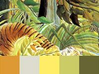 20 готовых цветовых палитр с картин художника Анри Руссо