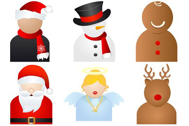 Скачать Xmas People Icons