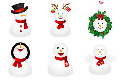 Скачать Snowmen Icons