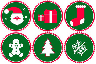 Скачать Vector Christmas Icons