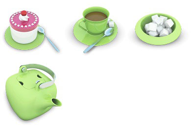 Скачать Tea Party Icons