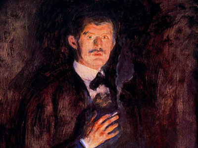 Автопортрет с зажженной сигаретой, 1895