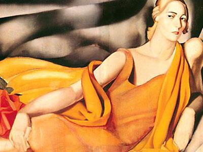 Женщина в желтом платье, 1929