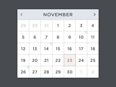 Перейти на FREE Calendar Psd