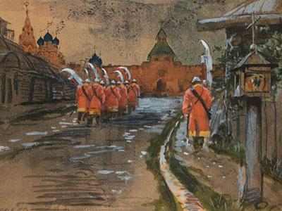 Стрелецкий дозор у Ильинских ворот