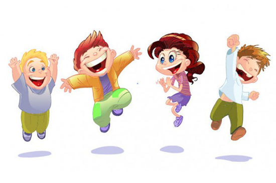 Скачать Cartoon Children Vector