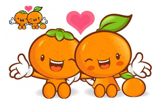 Скачать Love The Cartoon Super Fruit Vector