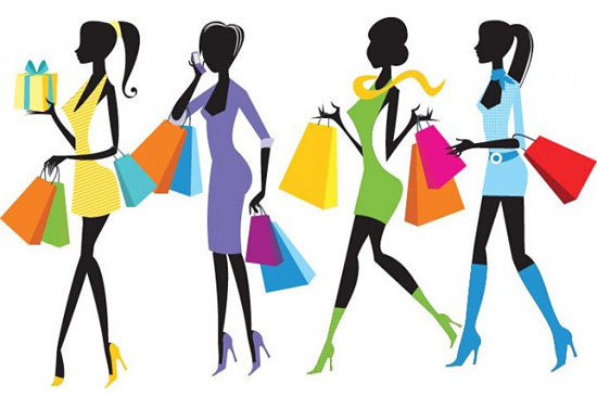 Скачать Fashion Shopping Girls Illustration
