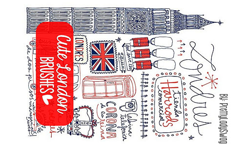 Скачать Cute London Brushes