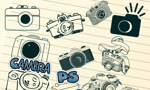 Скачать Camera Photoshop Brushes
