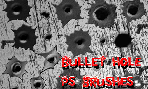 Скачать Bullet Hole Photoshop Brushes