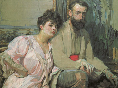 Self Portrait With Wife, 1908