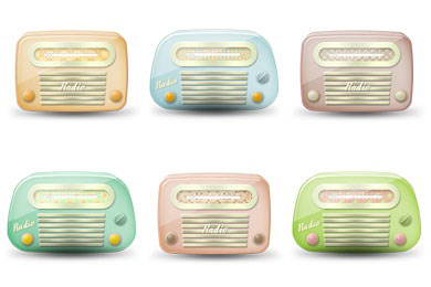Скачать Vintage Radio Icons By Brainleaf