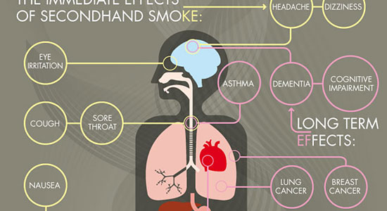 Secondhand Smoke Effects Infographic