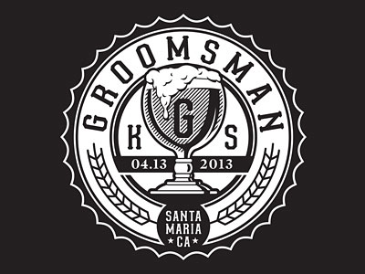 Groomsman emblem by Scott Greci