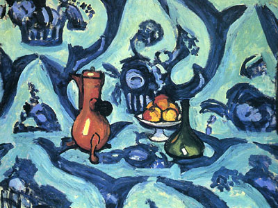 Still Life with Blue Tablecloth