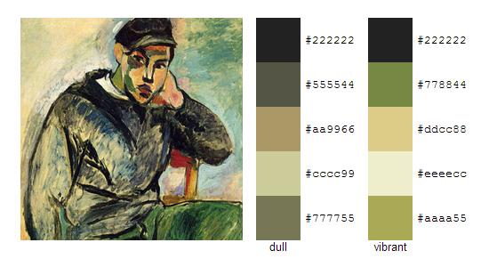 Палитра цветов с картин Анри Матисса 4