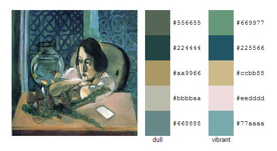 Палитра цветов с картин Анри Матисса 18