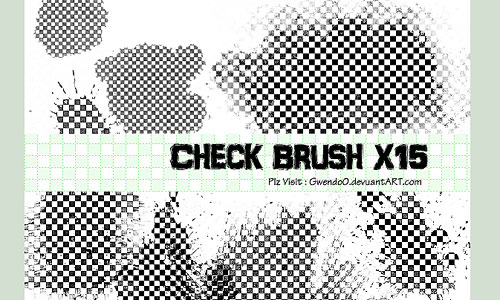 Скачать Check Photoshop Brush X15