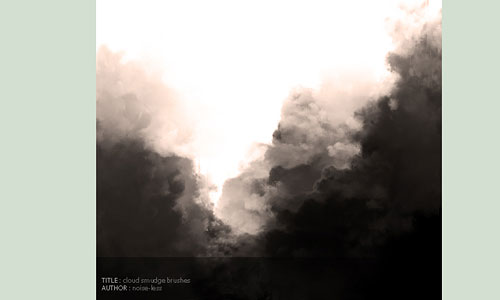 Скачать Cloud Smudge Brushes
