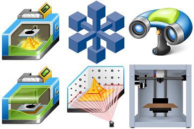 Скачать Free 3D Printer Icons