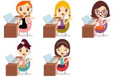 Скачать Callcenter Girls Icons