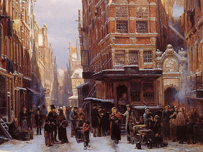 Перейти на The Jewish quarter in Amsterdam