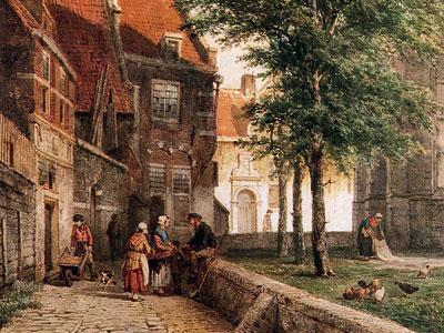 Перейти на View behind the Grote Kerk in Naarden