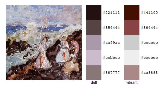 Палитра цветов с картин Мориса Прендергаста 4