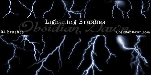 Перейти на Lightning Photoshop Brushes