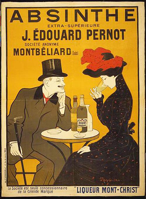 Absinthe, J. Edouard Pernot, Liqueur Mont-Christ
