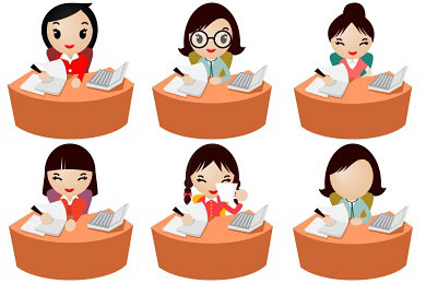 Скачать Office Women Icons