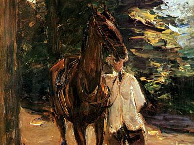 Перейти на Man with horse