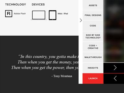 Flat Style Website & Navigation