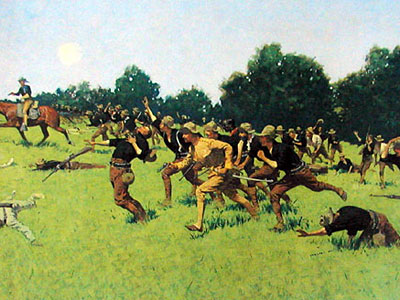 Перейти на Charge Of The Rough Riders At San Juan Hill, 1898