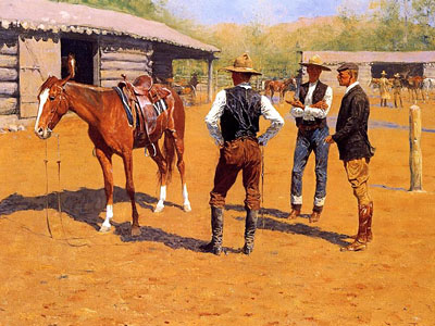 Перейти на Buying Polo Ponies In The West, 1905