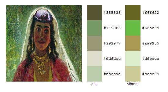 Палитра цветов с картин Константина Маковского 4