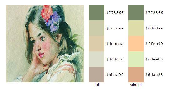 Палитра цветов с картин Константина Маковского 5