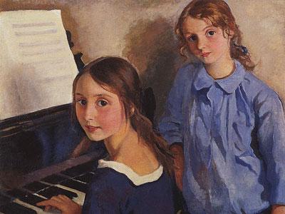 Перейти на Девочки у рояля