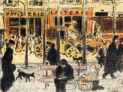 Перейти на Parisian Boulevard, 1896