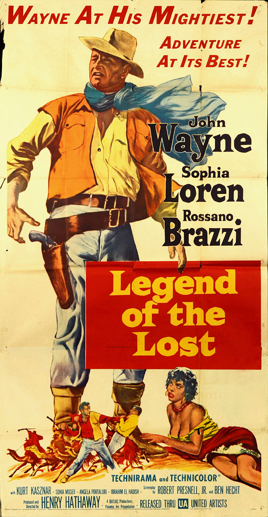 Legend Of Lost John Wayne Sophia Loren