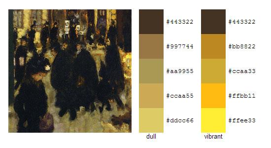 Палитра цветов с картин Пьера Боннара 2