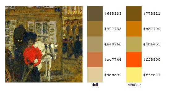 Палитра цветов с картин Пьера Боннара 3