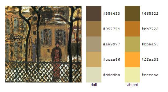 Палитра цветов с картин Пьера Боннара 4