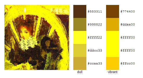 Палитра цветов с картин Пьера Боннара 7