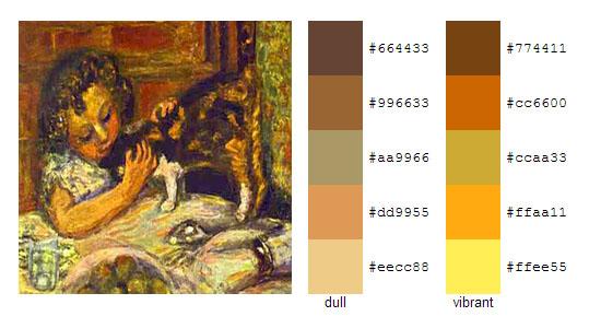 Палитра цветов с картин Пьера Боннара 11